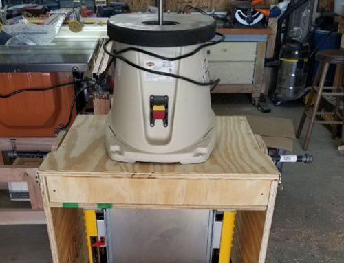DIY Flip Top Woodworking Power Tool Cart
